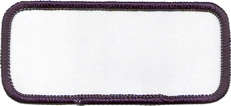 patch design template 3inch rectangle r1 brown border blank embroidered