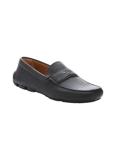 loafers prada prada prada black pebbled leather driving loafers