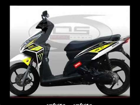 Sticker Striping Motor Stiker Honda Vario 110 Tazmania Spec B 1 striping honda vario techno energy