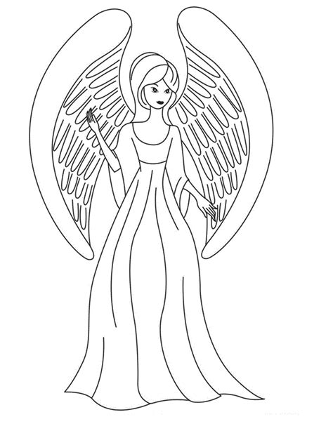 coloring book pages of angels free printable angel coloring pages for kids