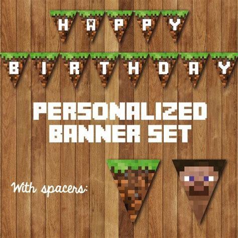 printable happy birthday minecraft banner 6 best images of free printable minecraft banner