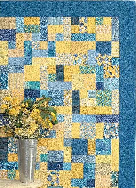 Yellow Brick Road Quilt Pattern pin by nan on quilt ideas
