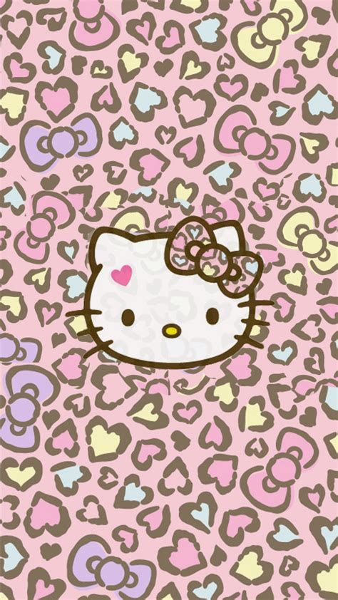 wallpaper hello kitty leopard love pink hello kitty wallpapers free