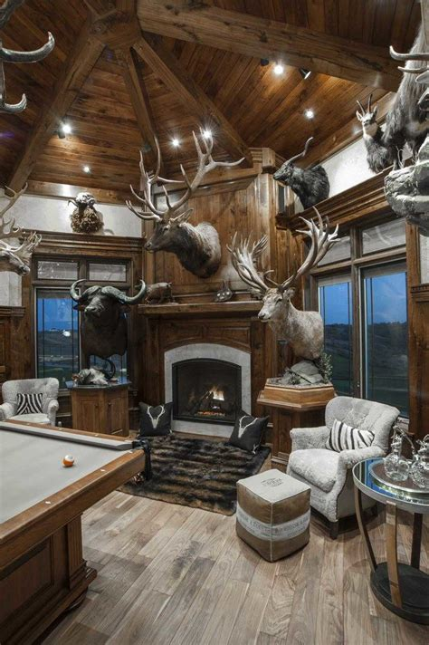pin  snipe  trophy room trophy rooms hunting cabin