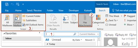 Outlook Search For Emails With Attachments How To Search All Emails With Attachments In Outlook