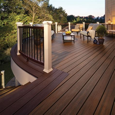 shop trex 48 pack transcend spiced rum ultra low maintenance ulm composite decking common 1