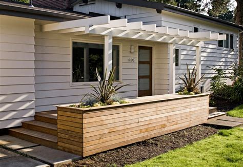 Planter Box In Front Of House by Planter Box Ideas Deck With Terrace