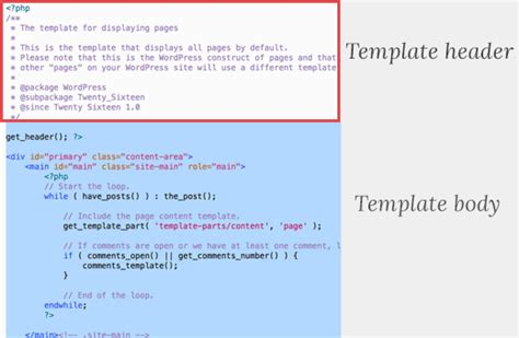 Php Header Template how to create a custom page in