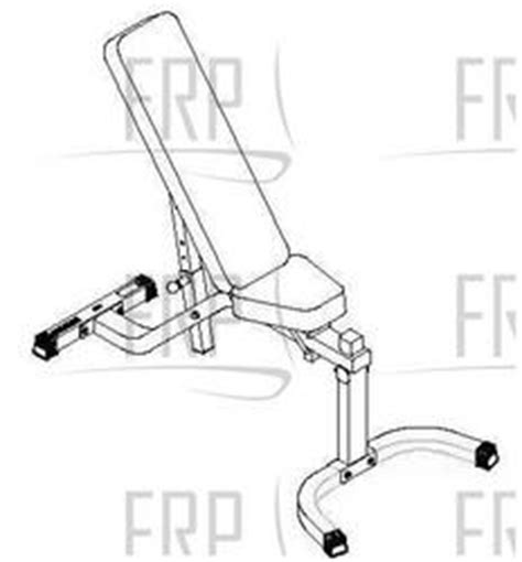 parabody adjustable bench parabody 874108 multi angle bench system fitness and exercise equipment repair parts