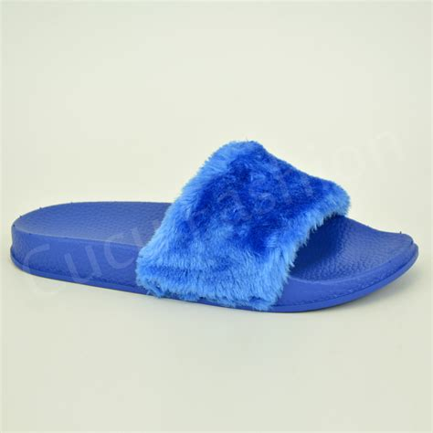 slippers size 3 new womens sliders slippers flip flops fur shoes