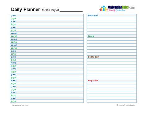 printable day planner template family day planner 02 free printable templates