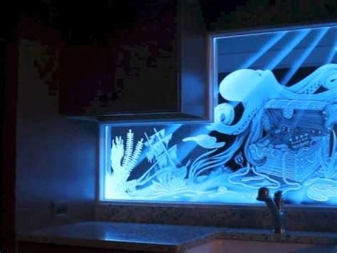 led screen backsplash led illuminated carved and etched glass video youtube
