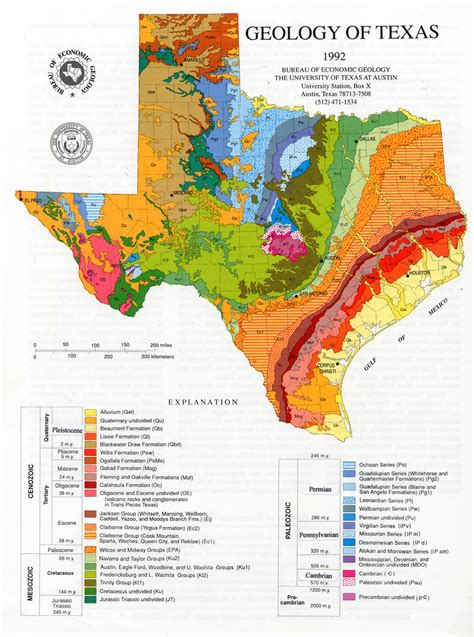 texas on map geologic maps and geologic structures a texas exle