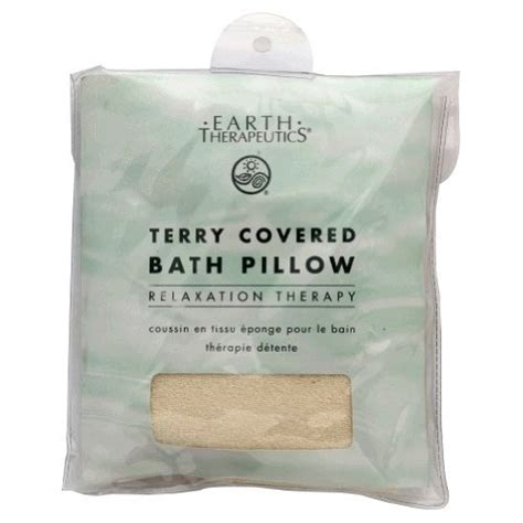 cheap terry covered bath pillow 1 eaearth