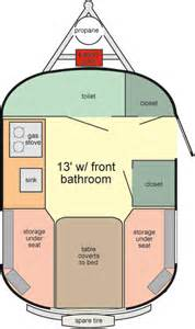 Small Camper Floor Plans 13 Economical Amp Light Weight Travel Trailers Scamp Trailers