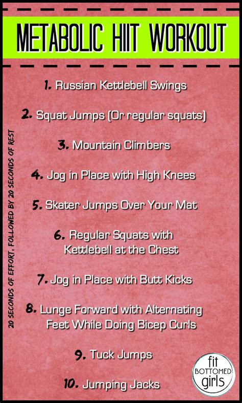 metabolic hiit workout fit bottomed