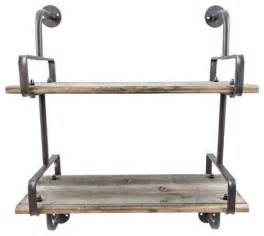 Smith industrial 2 tier wall shelf display and wall shelves by