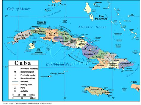 physical map of cuba links by country c