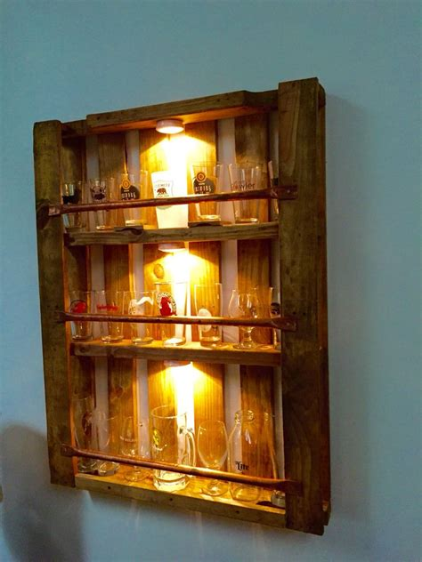 pint glass display cabinet pallet pint glass display case finished projects