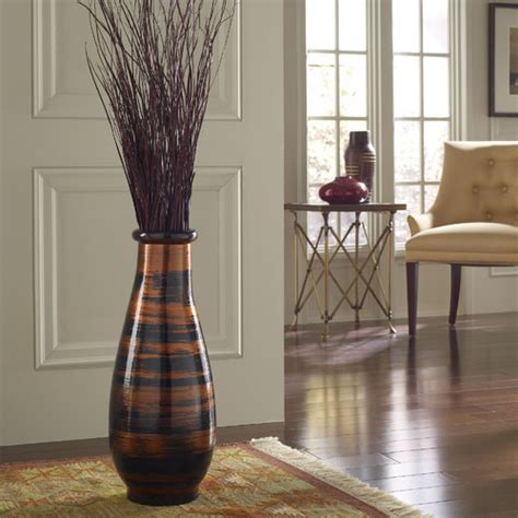 Home Decor Vases | copperworks round floor vase modern home decor