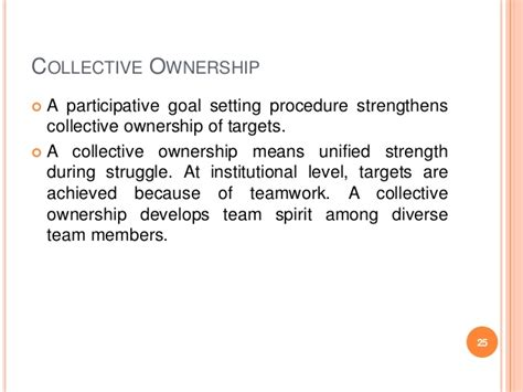ownership pattern meaning effective goal setting