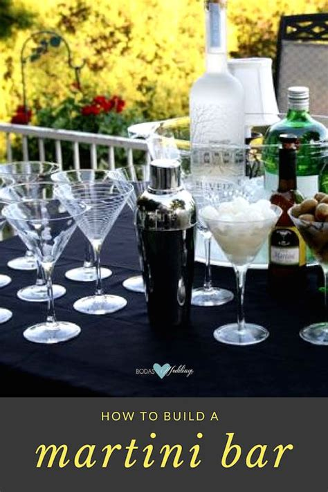 diy martini bar build your own martini bar glam wedding ideas on a budget