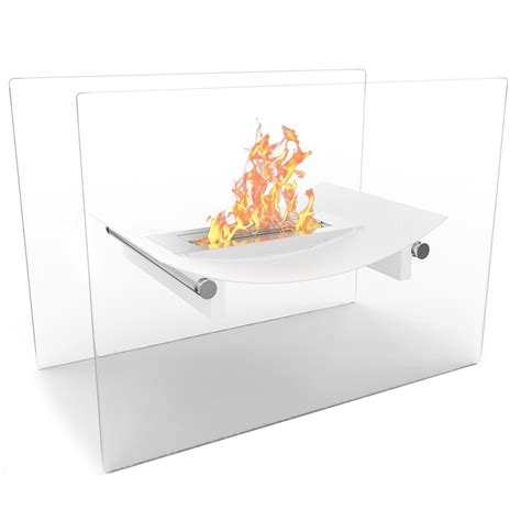 free standing ethanol fireplace bow ventless free standing ethanol fireplace in white