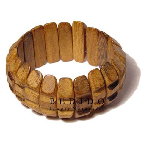 Handmade Wooden Bracelets - philippines robles wood w groove bangle phjy016bl