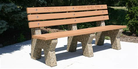 park style benches park style bench w recycled plastic lumber b4161m