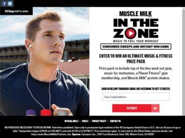 Muscle Milk Instant Win - cytosport quot muscle milk in the zone quot sweepstakes