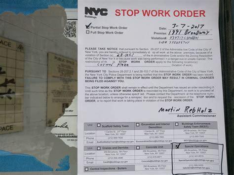 stop work order west side rag 187 after latest stop work order celeb