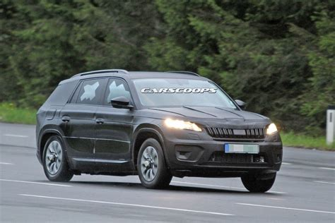 new skoda new skoda kodiaq suv spied in production guise for the