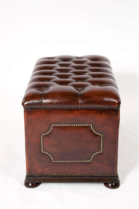 antike ottomane antique leather upholstered ottoman c1900 loveday antiques