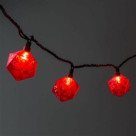 20 light string d20 string lights thinkgeek