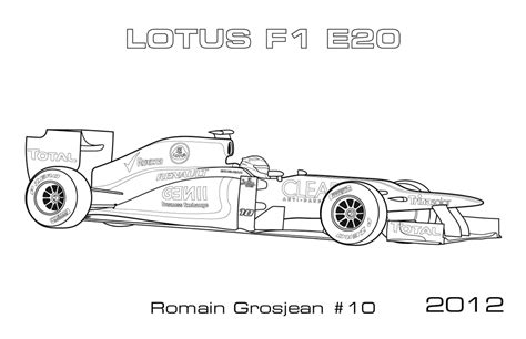 coloring pages indy cars lotusf1 grosjean coloring page car coloring pages