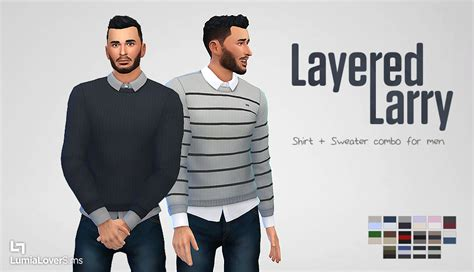 Sweater Cc my sims 4 layered larry sweater combo and