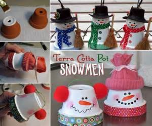 terra cotta pot snowmen pictures photos and images for