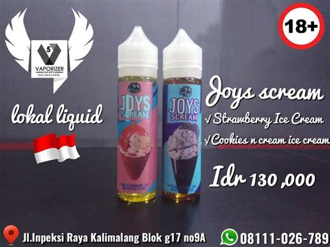 Promo Milk N Cookies Eliquid 60ml 3mg Vape Liquid Termurah jual joys scream liquid vapor bekasi jual joys scream