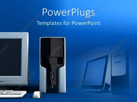 Powerpoint Template A Beautiful Depiction Of A Desktop Personal Computer Along With Its Powerpoint Computer Templates