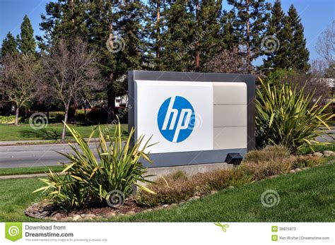 Hp Corporate Office by Hewlett Packard Corporate Headquarters Editorial Stock