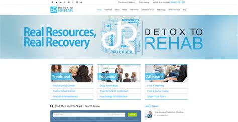 Rehab Or Detox by Detox To Rehab Debuts New Addiction Recovery Website