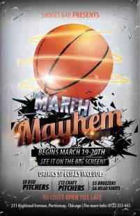 Basketball Flyer Template the madness begins free 3 basketball themed psd flyers
