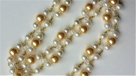 beginners jewelry diy pearl bracelet necklace easy beading pattern for