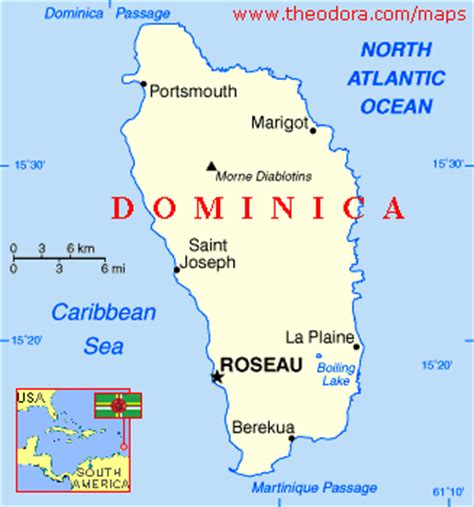 dominica on world map international schools in dominica iso