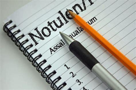 Menulis Notulen Rapat by Susunan Notula Ujiansma