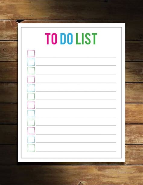Printable To Do List Maker | no excuses 20 free printable to do lists brit co