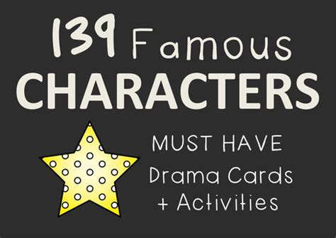 character card template drama drama cards character mannerisms learning activities by
