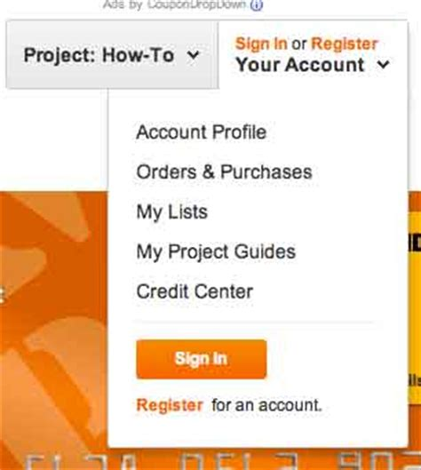sign up on www myhomedepotaccount my home depot
