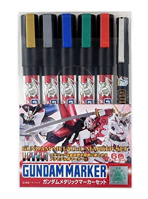 Murah Gundam Marker Metallic gsi creos ams 121 gundam metallic marker set import it all