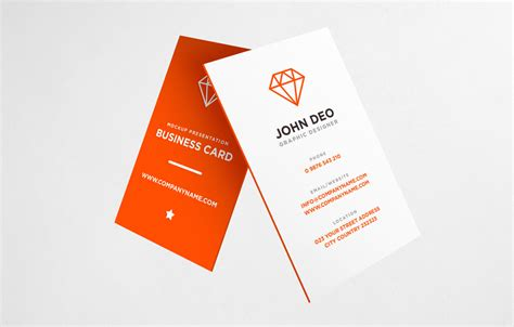 Free Vertical Business Card Template Psd by 25 Free Vertical Business Card Mockups Psd Templates
